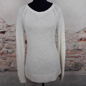 Ann Taylor LOFT M Ivory Cream Angora Sweater